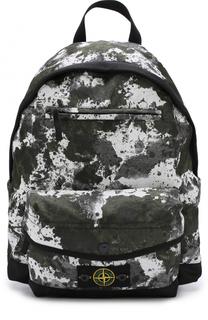 Текстильный рюкзак с принтом Stone Island