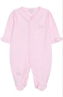 Хлопковая пижама с оборками и вышивкой Kissy Kissy