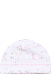 Хлопковая шапка с принтом Kissy Kissy