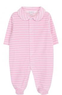 Пижама из хлопка и полиэстера в полоску Kissy Kissy