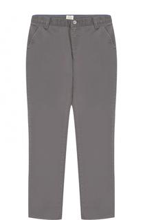 Хлопковые брюки прямого кроя Armani Junior