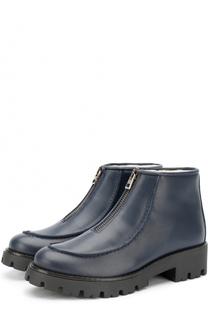 Кожаные ботинки с молнией Marni