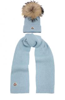 Комплект из шарфа и шапки Moncler Enfant