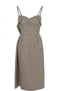 Приталенное шерстяное платье-миди No. 21