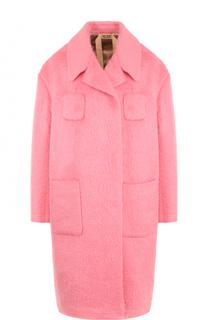 Шерстяное пальто прямого кроя с карманами No. 21