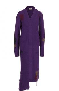 Шерстяное платье-миди с V-образным вырезом Acne Studios