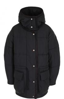 Стеганая куртка свободного кроя с капюшоном Isabel Marant Etoile