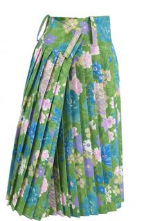 Плиссированная юбка-миди асимметричного кроя Balenciaga
