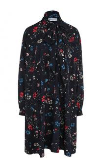 Платье-рубашка свободного кроя с воротником аскот Balenciaga