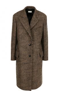 Шерстяное пальто прямого кроя Dries Van Noten