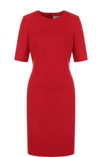 Приталенное платье-макси с коротким рукавом BOSS