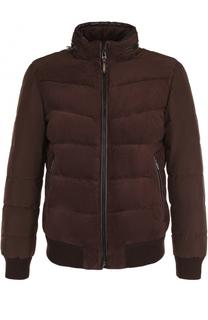 Утепленная куртка на молнии с замшевой вставкой Windsor