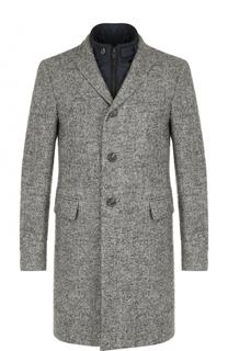 Однобортное шерстяное пальто с подстежкой Pal Zileri