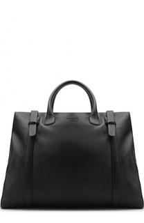 Кожаная дорожная сумка Giorgio Armani