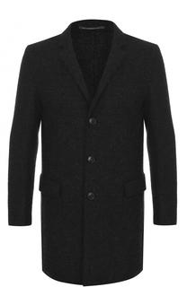 Однобортное шерстяное пальто HUGO