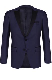 Однобортный шерстяной пиджак BOSS