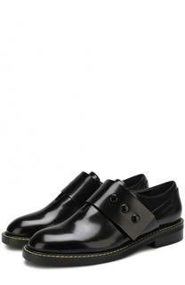 Кожаные ботинки с широким ремешком Marni