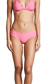Kate Spade New York Morro Bay Scalloped Hipster Bikini Bottoms