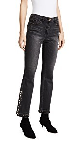 SJYP Detailed Flare Jeans