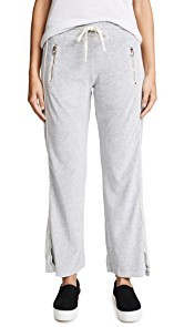SUNDRY Velour Zip Pocket Track Pants