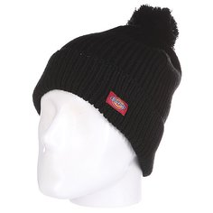 Шапка с помпоном Dickies Lenwood Hat Black