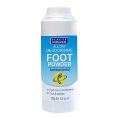 BEAUTY FORMULAS Тальк для ног дезодорирующий 100 г