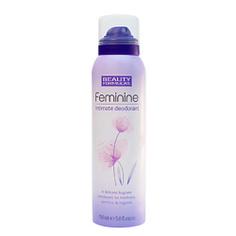 BEAUTY FORMULAS Дезодорант для женской интимной гигиены 150 мл