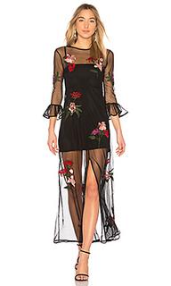 Макси платье с вышивкой tallon - Lovers + Friends