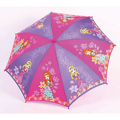 """Зонт-трость, детский, со светодиодами, Zest, рисунок """"Принцессы"""""""