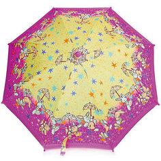 Зонт-трость, детский, розово-желтый, со светодиодами Zest