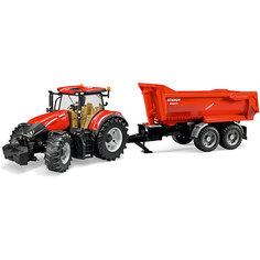 Трактор Case IH Optum 300 CVX с прицепом Krampe Tandem-Halfpipe, Bruder