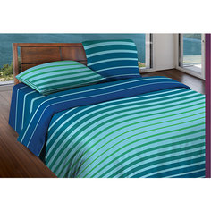 Постельное белье Евро Stripe Blue mint, БИО Комфорт, WENGE Motion