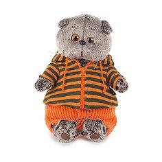 Мягкая игрушка Budi Basa Кот Басик в штанах и полосатой кофте, 25 см
