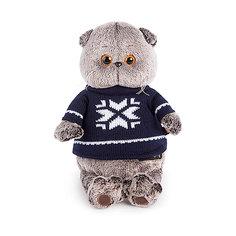 Мягкая игрушка Budi Basa Кот Басик в свитере, 25 см