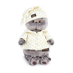 Мягкая игрушка Budi Basa Кот Басик в пижаме, 25 см