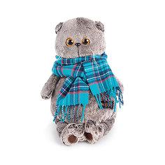Мягкая игрушка Budi Basa Кот Басик в изумрудном шарфе, 19 см