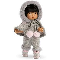 Классическая кукла Llorens Валерия азиатка в сером комбинезоне 28 см