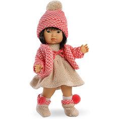 Классическая кукла Llorens Валерия азиатка в красном платье, 28 см