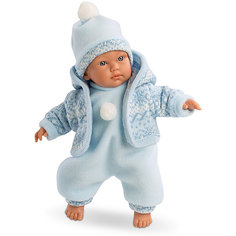 Кукла-пупс Llorens Кукуй в голубом комбинезоне, 30 см