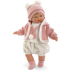 Кукла-пупс Llorens Кэрол в белой маечке и шортах, 33 см