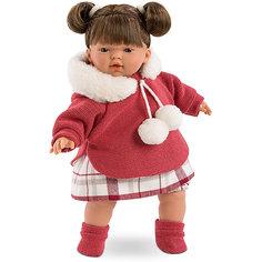 Кукла-пупс Llorens Татьяна в кофте с бумбонами, 33 см