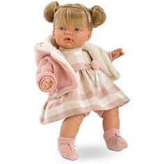 Кукла-пупс Llorens Люсия в клетчатом платье, 38 см