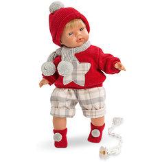 Кукла-пупс Llorens Саша в красной кофточке и шортах, 38 см