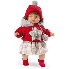 Кукла-пупс Llorens Лола в кофте и юбке, 38 см