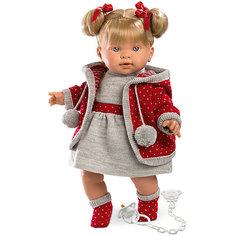 Кукла-пупс Llorens Пиппа в сером платье, 42 см