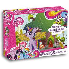"Пазл Maxi Origami ""My little Pony"" Домик Искорки 35 элементов + маркер с блестками"
