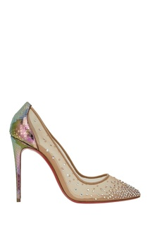 Сетчатые туфли Follies Strass 100 Christian Louboutin