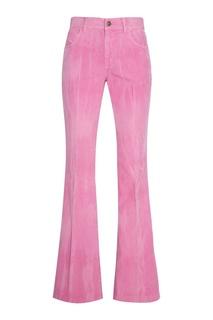 Розовые брюки из вельвета Gucci