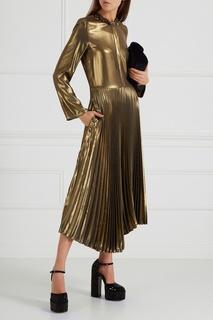 Платье с плиссированным подолом Golden Goose Deluxe Brand