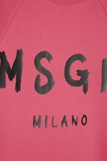 Хлопковый свитшот с логотипом Msgm